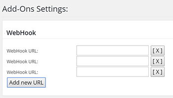 Add-on settings